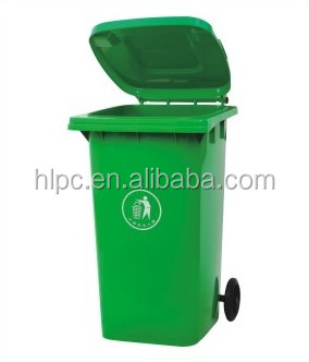 100 liter pure HDPE eco friend mobile garbage bin street public dustbin waste box hospital waste bin