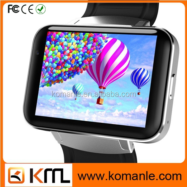 2.2 inch HD IPS big screen android wifi 3g gps dm98 android smart watch, 2017 Trendy smart watch with sim card