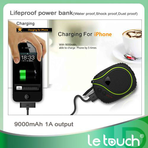 For iPhone 5 Rechargeable Power Bank with SOS functions