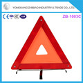 new product Red Plastic 42cm Long Distance Visibility warning triangle for car