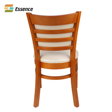 China professional manufacturer chair fancy beech wood with nc paint wood chairs