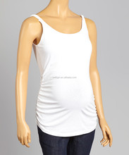 Newest White Maternity T-Shirt With Nursing Bra Tank Maternity Tops Women Clothing WT80817-27