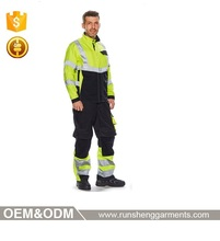 Protecting safety workwear fleece jacket