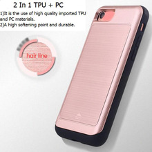 Original Brushed Metal Hair Line Phone 7 Case Mobile Phone Cover PC Hard
