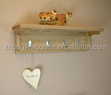 new fasion Decorative retractable coat hooks,wooden clothes hangs with cheap price