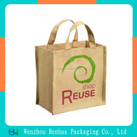 Promotional Shopping Natural Jute Grocery Bag