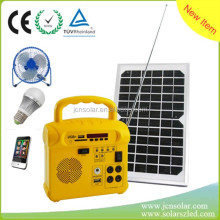 Low price portable solar home system with radio & music player for small house indoor linghting africa india market