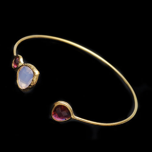 Fashion New Style Choose Month Gold Birthstone Jewelry Bangle Bracelet