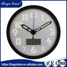 Amazing Quality quartz luminous clocks black kitchen chinese wall clock
