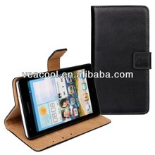 Stand Book Wallet Real Leahter Case for Huawei Ascend G700 Leather Case