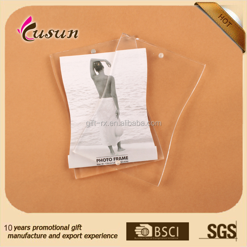 Top Quality Popular Design Custom Made Magnetic Transparent Clear Acrylic picture Photo frame