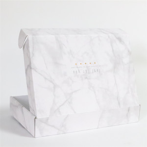 Custom Marble Effect Cardboard Gift Packaging Paper Folding Box