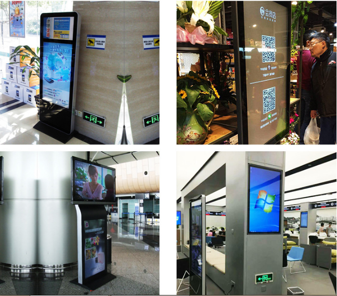 Interactive 42 inch all-in-one digital vertical query touch advertising LED screen machine