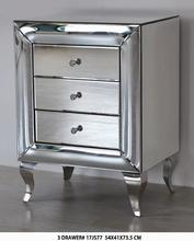 mirrored furniture 2/3 draws chest/carbinet bed side for living room
