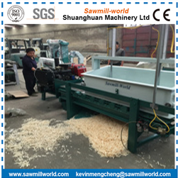 Heavy Duty Diesel Engine Chicken Used Wood Shaving Machine For Sale