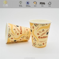 Disposable paper cups used 100% wood raw material