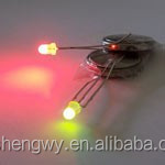 LED Red Green 3mm common cathode - Diffused