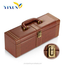 Wholesale win box wine case leather wine carrier