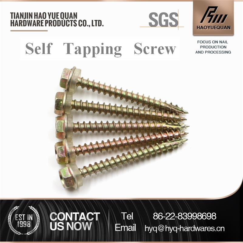 with washer round head tapping screw galvanized self drilling screw cross recessed pan head self tapping screw