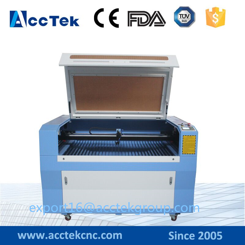 Foam/Acrylic/Paper/Wood/Leather/Fabric/Plastic/ Plywood Co2 Laser Cutting Engraving Machine AKJ6090