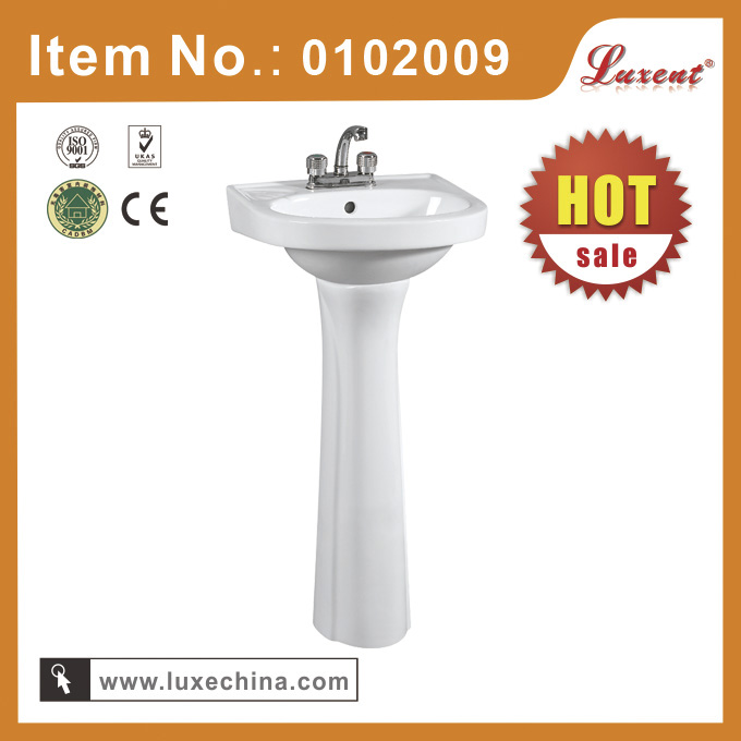 Hot Sale Ceramic Art basin with pedestal