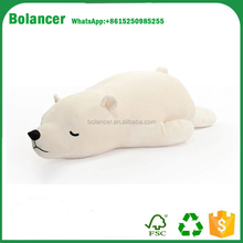 hot selling cute soft sleeping polar bear teddy bear plush toy
