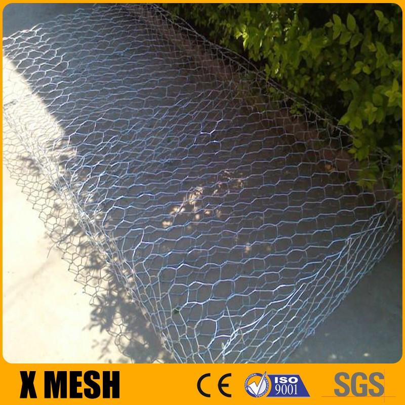 Flexible steel wire mesh gabion rock baskets mountain