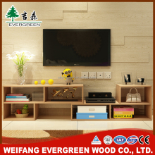 Natural Finish Free Standing Tv Stand For Flat Screen