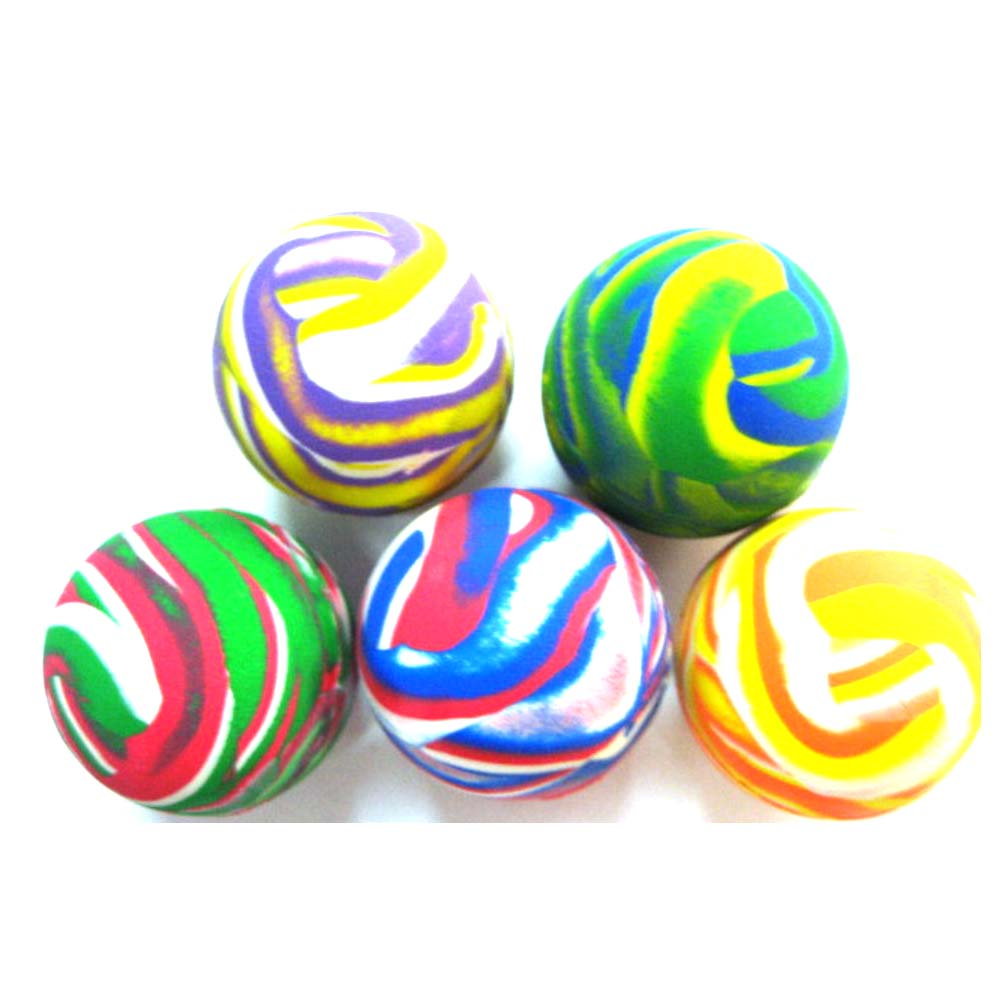 High jumping mixed solid color rubber ball for machine