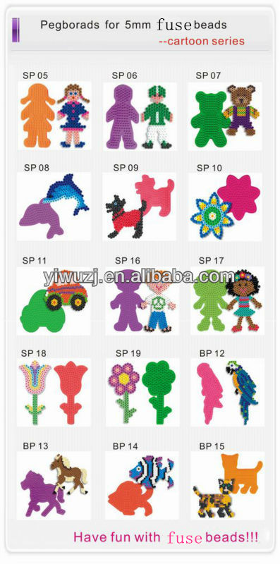 2017 fashion diy beads plastic hama perler beads handmaking fuse beads