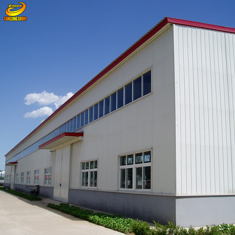 Skylight Prefabricated Temporary Workshop Building