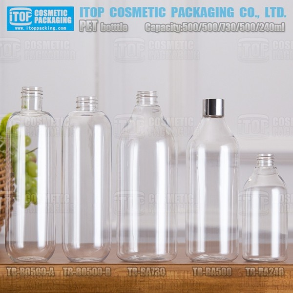 TB-BA500 500ml best packaging for skin care products make-up base customizable 500ml pet plastic bottle