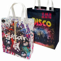 Christmas recyclable waterproof shopping tote bag,non woven gift bag