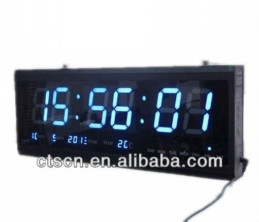 Large 48cm digitale grande muro ha portato orologio digitale calendario da parete orologio da - Orologio da tavolo digitale ...