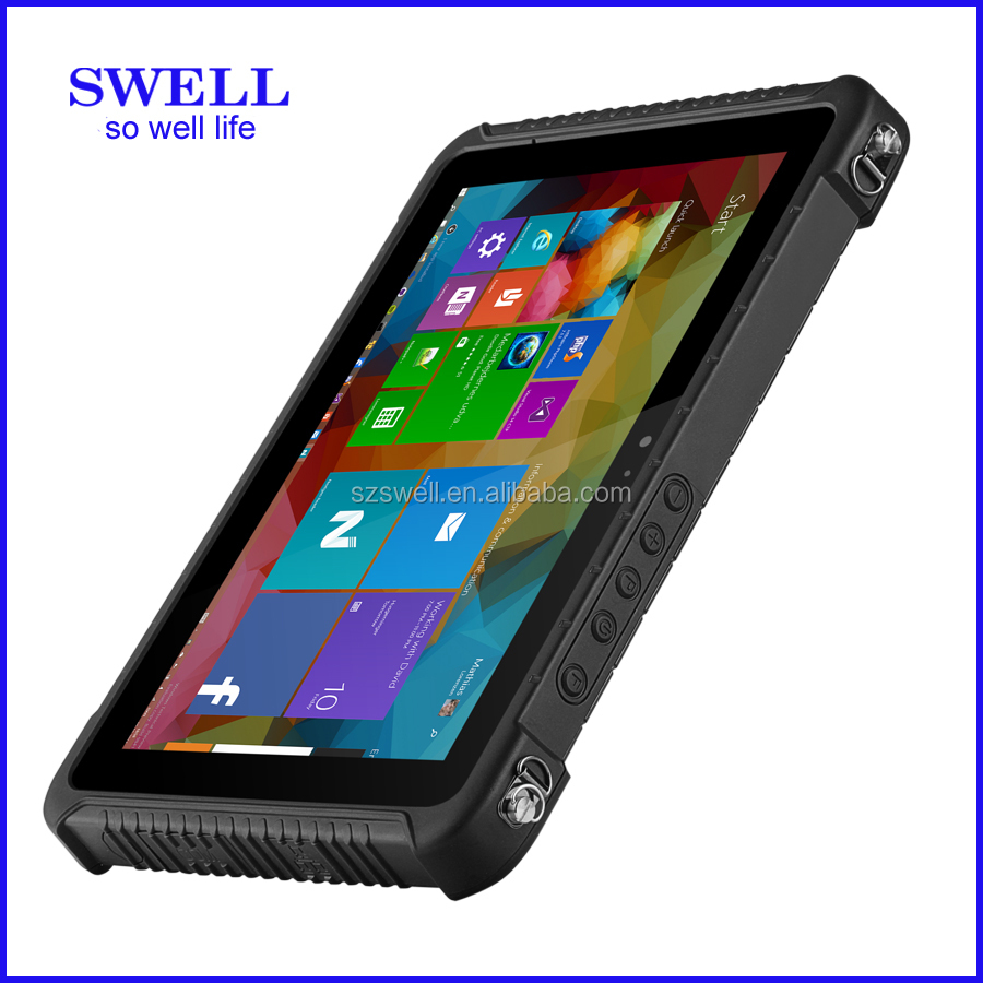 10'' Model I10H waterproof tablet IP67 rugged tablet INTEL CPU, optional win 10 or Android 5.1os NFC reader