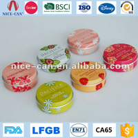 Wholesale Empty Round Mini Cosmetic Tin Container Custom Aluminum Metal Small Candy Lip Balm Tin