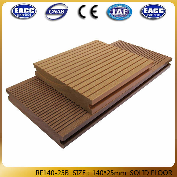 Factory price waterproof solid hollow wood plastic for Decking boards 3 6 metres