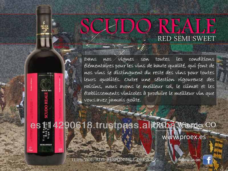 SCUDO REALE Red Semi Sweet Wine 11% 12x750ml
