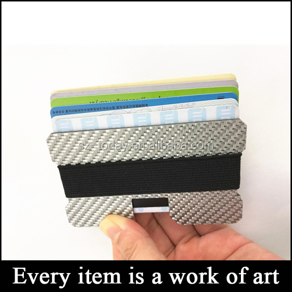 (Td-CF77)Hot sell thin minimalist front pocket wallets promotion Christmas gift carbon fiber slim wallet