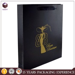 hot sale paper gift bags folded wine bottle 120gsm glossy paper bag