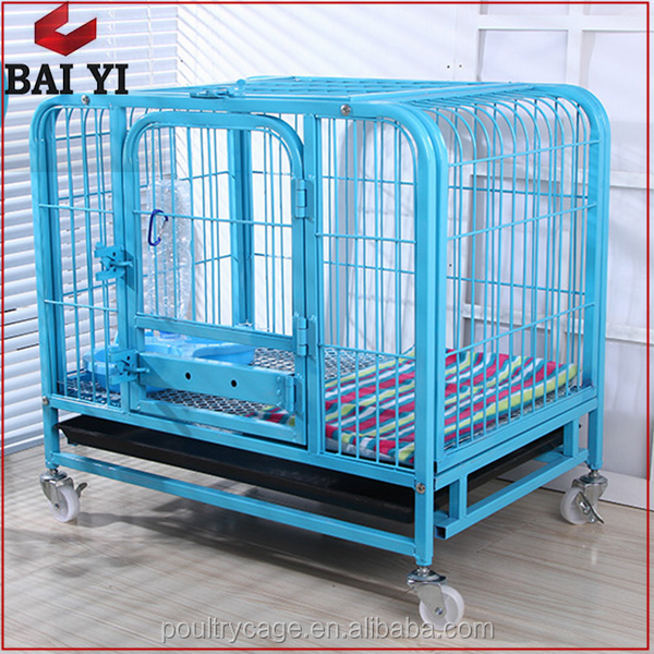 BAIYI Commercial Galvanized Metal Dog Cage/Collapsible Dog Kennel