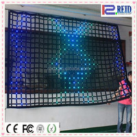 Indoor flexible LED mesh screen full color led screen xxx image for hd video displ