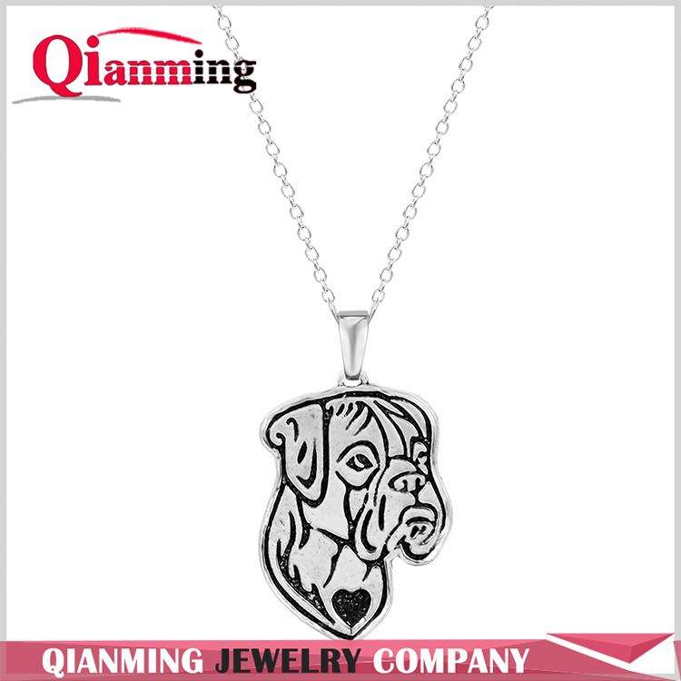 Wholesale Handmade Boxer Jewelry Pendant Necklace Dog Jewelry for Women Girl Gift