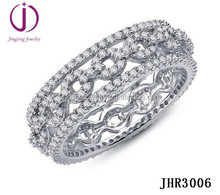 Best selling products gold plated sterling silver women jewelry with full CZ micro paved rings