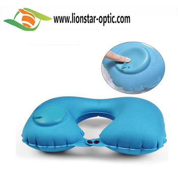 Inflatable Camping Pillows U Shaped Travel Pillow Neck Support Cushion
