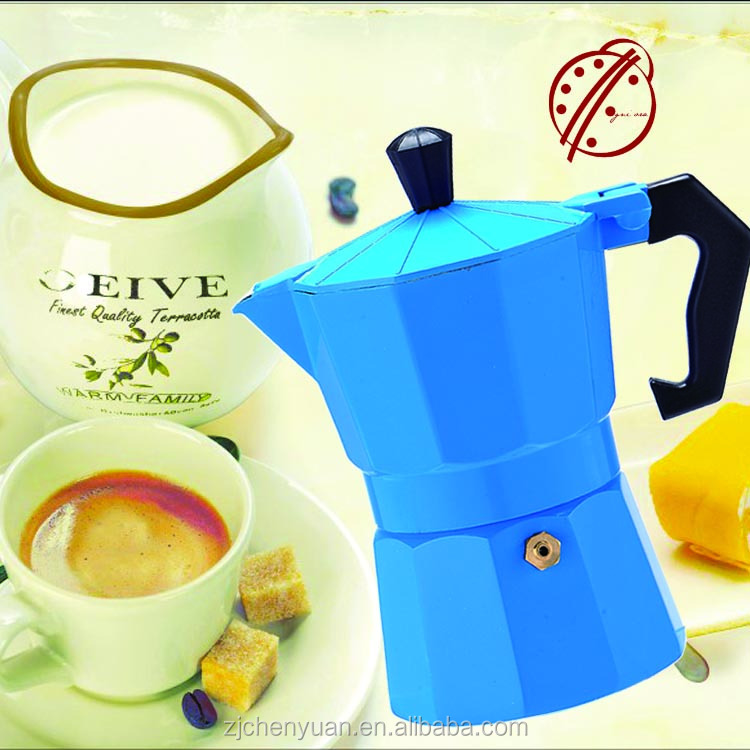 OGNIORA 2016 china manufacturers stove top 3cup aluminum italian espresso coffee brands