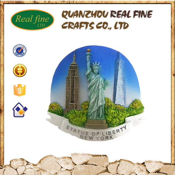 Wholesale resin New York statue of liberty magnet for souvenir