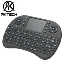 RK Cheapest Model Wireless keyboard i8 Mini Keyboard Backlight 3 Colors with Keypad Multiple Language