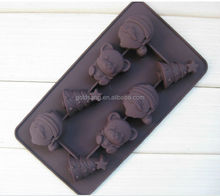 christmas promotional silicon chocolate molds