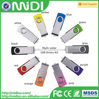 Colorful Plastic Top Sell Factory Price And Cheapest Designer 4GB Swivel USB Flash Drive